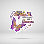 I Believe In Angles Butterflies Memory Memorial Loss For Ones In Heaven Vinyl Stickers Shirts Hoodies Cups Mugs Totes Handbags