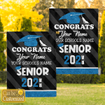Personalized Congrats Name Graduate Graduation Garden Flags Canvases Posters Puzzles Quilts Shower Curtains Blankets