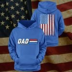 Dad A Real American Hero Happy Father's Day Stickers Shirts Hoodies Cups Mugs Totes Handbags