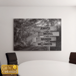 Personalized From 4 Names Family Members Canvases Pictures Puzzles Posters Quilts Blankets