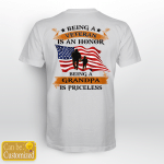 Personalized Being A Veteran Is An Honor Being Grandpa Is Priceless (Vinyl Stickers, Shirts, Hoodies, Cups, Mugs, Totes, Handbags)
