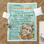 I Am The Storm Granddaughter Gift From Grandma (Canvases, Posters, Pictures, Puzzles, Quilts, Blankets, Shower Curtains)