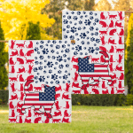 America Cat (House Flags, Canvas, Posters, Puzzles, Quilts, Blankets)