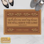 Personalized As For Me And My House (Jesus - Christs - Christians, Canvases, Pictures, Puzzles, Posters, Quilts, Blankets, Door Mats, Stickers)