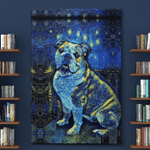 Bulldog Painting (Canvases, Posters, Pictures, Puzzles, Quilts, Blankets, Shower Curtains)