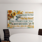 My Mind Still Talks To You (Loss, In Heaven Canvases, Pictures, Puzzles, Posters, Quilts, Blankets, Stickers)