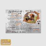 Personalized Waiting At The Door Dogs In Heaven 2 (Canvases, Pictures, Puzzles, Posters, Bath Mats, Stickers)