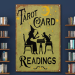 Tarot Card Readings Wtch Halloween (Canvases, Posters, Pictures, Puzzles, Quilts, Blankets, Shower Curtains, Led Lamp, Stickers)