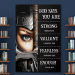 God Says You Are (Jesus - Christs - Christians, Canvases, Posters, Pictures, Puzzles, Quilts, Blankets, Shower Curtains, Flags, Bath Mats, Led Lamp, Stickers)