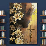 Jesus Flower Of Faith (Christs - Christians, Canvases, Posters, Pictures, Puzzles, Quilts, Blankets, Shower Curtains, Flags, Bath Mats, Led Lamp, Stickers)