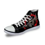 3D Print Suger Skull Men Women High Top Casual Canvas Shoes Skeleton Design Flat Sneakers Sports Shoes AK19005