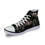 3D Print Suger Skull Men Women High Top Casual Canvas Shoes Skeleton Design Flat Sneakers Sports Shoes AK19006