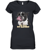 New Orleans Saints To All My Haters Dog Licking   Women's V-Neck T-Shirt