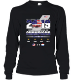 2019 Women's World Soccer Cup Champions  Youth Long Sleeve T-Shirt