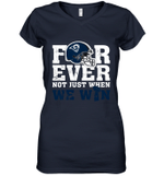 NFL Forever Los Angeles Rams Not Just When We Win Women's V-Neck T-Shirt