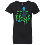 Waterfall Lake Girls Premium T-Shirt
