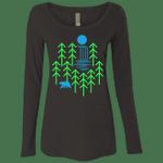 Waterfall Lake Womens Triblend Long Sleeve Shirt
