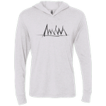 Mountain Brush Strokes Triblend Long Sleeve Hoodie Tee