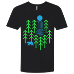 Waterfall Lake Mens Premium V-Neck