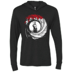 Punishment Shot Triblend Long Sleeve Hoodie Tee