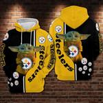 Pittsburgh Steelers Baby Yoda Hoodie