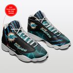 Miami Dolphins Personalized Air JD13 Sneakers 193