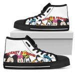 Mickey & Friend Disney High Top Canvas Shoes 7