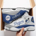 Los Angeles Dodgers and Snoopy Air JD13 Sneakers 639