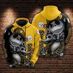 Pittsburgh Steelers and Jack skellington Hoodie 599