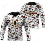 NFL Washington Redskins Limited Edition All Over Print Hoodie/ T shirt/ Legging