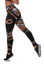 NFL Chicago Bears Limited Edition Women's All Over Printed Tank Top Legging