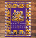 Los Angeles Lakers Limited Edition Quilt and Blanket 060