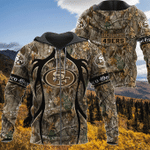 San Francisco 49ers Realtree Hunting Camo Limited Hoodie S578
