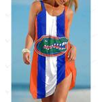 NCAAF Florida Gators Sleeveless Beach Dress With Round Neck 011