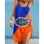 NCAAF Florida Gators Sleeveless Beach Dress With Round Neck 012