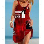 NCAAF Alabama Crimson Tide Sleeveless Beach Dress With Round Neck 017