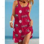 NCAAF Alabama Crimson Tide Sleeveless Beach Dress With Round Neck 018
