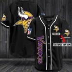 Minnesota Vikings Personalized Baseball Jersey Shirt 73