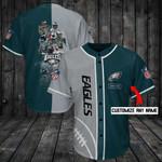 Philadelphia Eagles Personalized Baseball Jersey Shirt 94