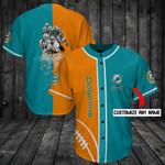 Miami Dolphins Personalized Baseball Jersey Shirt 98