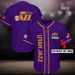 Utah Jazz Personalized Baseball Jersey Shirt 107