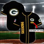 Green Bay Packers Personalized Baseball Jersey Shirt 119