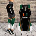 Miami Hurricanes Leggings And Tank Top 125