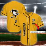 Pittsburgh Penguins Personalized Baseball Jersey Shirt 128