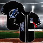 Tampa Bay Lightning Personalized Baseball Jersey Shirt 129