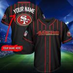 San Francisco 49ers Personalized Baseball Jersey Shirt 132