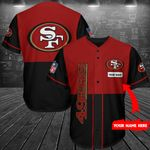 San Francisco 49ers Personalized Baseball Jersey Shirt 158