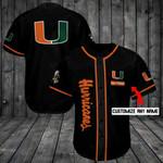 Miami Hurricanes Personalized Baseball Jersey Shirt 169