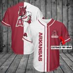 Arkansas Razorbacks Personalized Baseball Jersey Shirt 195