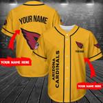 Arizona Cardinals Personalized Baseball Jersey Shirt 198